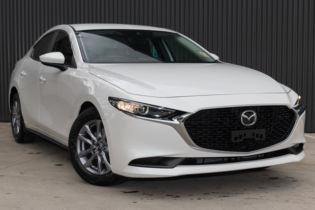 Demo Mazda 3 BP2S7A G20 SKYACTIV-Drive Pure, 2020 Mazda 3 BP2S7A G20 SKYACTIV-Drive Pure Snowflake White Pearl 6 Speed Sports Automatic Sedan