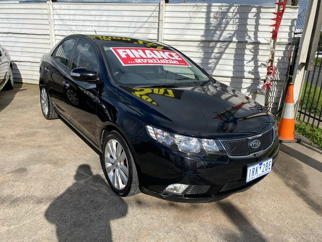 Used Kia Cerato TD MY10 SLi, 2010 Kia Cerato TD MY10 SLi Black 4 Speed Sports Automatic Sedan