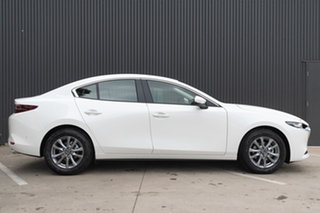 2020 Mazda 3 BP2S7A G20 SKYACTIV-Drive Pure Snowflake White Pearl 6 Speed Sports Automatic Sedan.