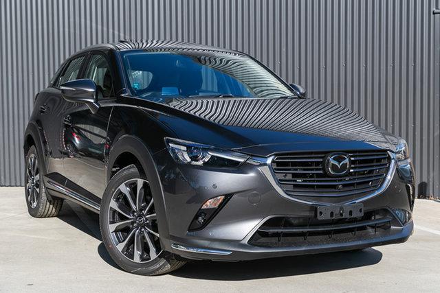 Demo Mazda CX-3 DK4W7A Akari SKYACTIV-Drive i-ACTIV AWD, 2020 Mazda CX-3 DK4W7A Akari SKYACTIV-Drive i-ACTIV AWD Machine Grey 6 Speed Sports Automatic Wagon