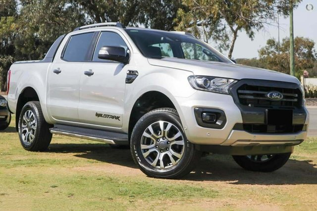 Demo Ford Ranger PX MkIII 2019.75MY Wildtrak Pick-up Double Cab, 2019 Ford Ranger PX MkIII 2019.75MY Wildtrak Pick-up Double Cab Silver 10 Speed Sports Automatic