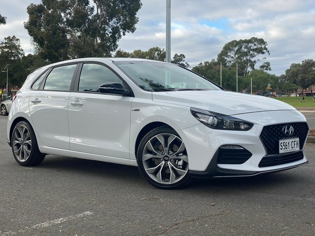 Demo Hyundai i30 PD.3 MY19 N Line D-CT, 2019 Hyundai i30 PD.3 MY19 N Line D-CT Polar White 7 Speed Sports Automatic Dual Clutch Hatchback
