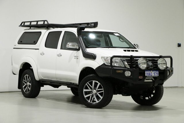 Used Toyota Hilux GGN25R MY12 SR5 (4x4), 2013 Toyota Hilux GGN25R MY12 SR5 (4x4) White 5 Speed Manual Dual Cab Pick-up