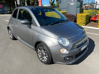 2013 Fiat 500 Series 1 S Grey 6 Speed Manual Hatchback.