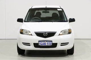 2002 Mazda 2 DY Neo White 5 Speed Manual Hatchback.