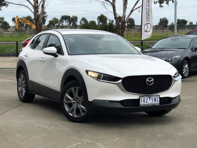 Demo Mazda CX-30 DM2W7A G20 SKYACTIV-Drive Evolve Ravenhall, 2020 Mazda CX-30 DM2W7A G20 SKYACTIV-Drive Evolve Snowflake White Pearl 6 Speed Sports Automatic