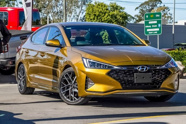 Used Hyundai Elantra AD.2 MY19 Sport DCT Premium, 2019 Hyundai Elantra AD.2 MY19 Sport DCT Premium Lava Orange 7 Speed Sports Automatic Dual Clutch