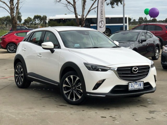 Demo Mazda CX-3 DK2W7A sTouring SKYACTIV-Drive FWD, 2020 Mazda CX-3 DK2W7A sTouring SKYACTIV-Drive FWD Snowflake White Pearl 6 Speed Sports Automatic
