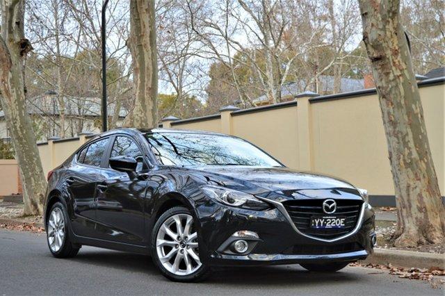 Used Mazda 3 BM5238 SP25 SKYACTIV-Drive GT, 2015 Mazda 3 BM5238 SP25 SKYACTIV-Drive GT Black 6 Speed Sports Automatic Sedan