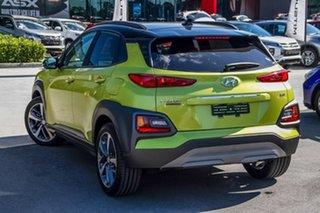2019 Hyundai Kona OS.2 MY19 Highlander D-CT AWD Acid Yellow 7 Speed Sports Automatic Dual Clutch.