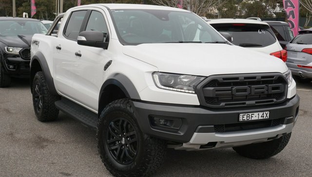 Used Ford Ranger PX MkIII 2019.75MY Raptor Pick-up Double Cab, 2019 Ford Ranger PX MkIII 2019.75MY Raptor Pick-up Double Cab White 10 Speed Sports Automatic