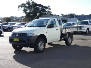 2008 Mitsubishi Triton ML MY09 GLX 4x2 White 5 Speed Manual Cab Chassis.