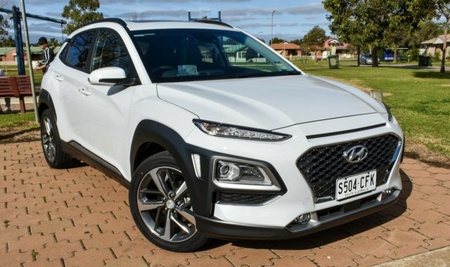 Demo Hyundai Kona OS.3 MY20 Highlander 2WD, 2019 Hyundai Kona OS.3 MY20 Highlander 2WD Chalk White 6 Speed Sports Automatic Wagon