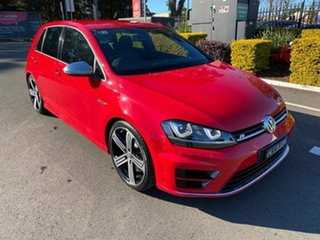 2014 Volkswagen Golf VII MY15 R DSG 4MOTION Red 6 Speed Sports Automatic Dual Clutch Hatchback.