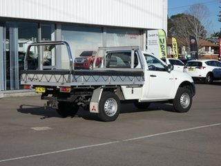 2008 Mitsubishi Triton ML MY09 GLX 4x2 White 5 Speed Manual Cab Chassis