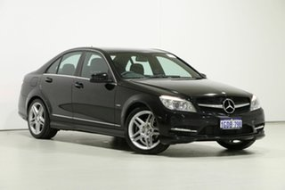 2010 Mercedes-Benz C250 W204 MY10 CGI Avantgarde Black 5 Speed Auto Tipshift Sedan.