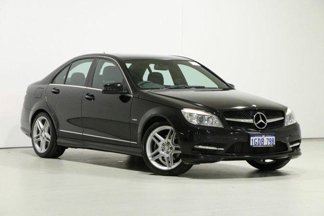 Used Mercedes-Benz C250 W204 MY10 CGI Avantgarde, 2010 Mercedes-Benz C250 W204 MY10 CGI Avantgarde Black 5 Speed Auto Tipshift Sedan