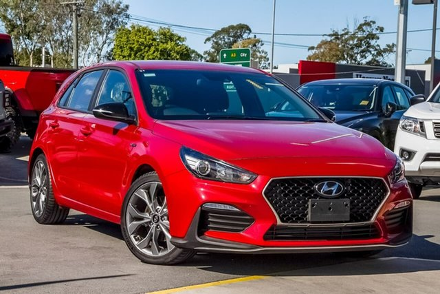 Used Hyundai i30 PD.3 MY20 N Line D-CT, 2019 Hyundai i30 PD.3 MY20 N Line D-CT Fiery Red 7 Speed Sports Automatic Dual Clutch Hatchback