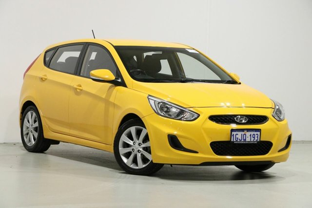 Used Hyundai Accent RB5 Sport, 2017 Hyundai Accent RB5 Sport Yellow 6 Speed Automatic Hatchback