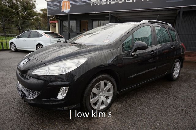 Used Peugeot 308 T7 XSE Touring, 2009 Peugeot 308 T7 XSE Touring Perla Nera Black 6 Speed Sports Automatic Wagon