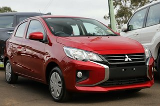 2020 Mitsubishi Mirage LB MY21 ES Wine Red 1 Speed Constant Variable Hatchback.