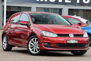 2014 Volkswagen Golf VII MY14 103TSI DSG Highline Red 7 Speed Sports Automatic Dual Clutch Hatchback.
