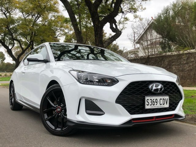 Demo Hyundai Veloster JS MY20 Turbo Coupe D-CT, 2019 Hyundai Veloster JS MY20 Turbo Coupe D-CT Chalk White 7 Speed Sports Automatic Dual Clutch