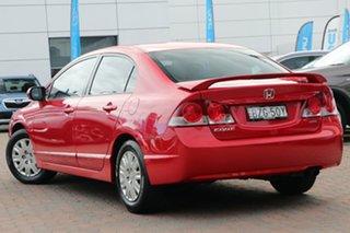 2008 Honda Civic 8th Gen MY08 VTi Red 5 Speed Automatic Sedan.