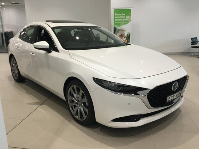 Used Mazda 3 BP2SLA G25 SKYACTIV-Drive Astina, 2019 Mazda 3 BP2SLA G25 SKYACTIV-Drive Astina White 6 Speed Sports Automatic Sedan