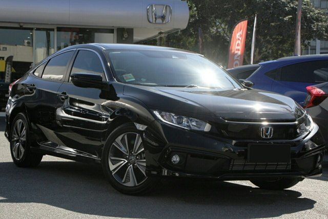 New Honda Civic 10th Gen MY20 VTi-L, 2020 Honda Civic 10th Gen MY20 VTi-L Crystal Black 1 Speed Constant Variable Sedan