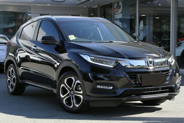 New Honda HR-V MY21 VTi-LX Mount Gravatt, 2020 Honda HR-V MY21 VTi-LX Crystal Black 1 Speed Constant Variable Hatchback
