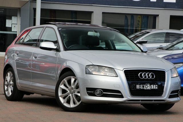 Used Audi A3 8P MY11 TFSI Sportback S Tronic Ambition, 2011 Audi A3 8P MY11 TFSI Sportback S Tronic Ambition Silver 7 Speed Sports Automatic Dual Clutch