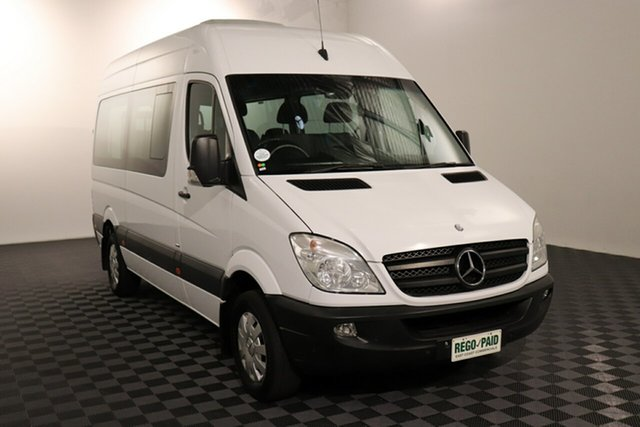 Used Mercedes-Benz Sprinter NCV3 MY12 316CDI Low Roof MWB 7G-Tronic Transfer, 2012 Mercedes-Benz Sprinter NCV3 MY12 316CDI Low Roof MWB 7G-Tronic Transfer White 7 speed Automatic Bus