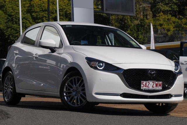 Demo Mazda 2 DJ2HAA G15 SKYACTIV-Drive GT, 2020 Mazda 2 DJ2HAA G15 SKYACTIV-Drive GT Snowflake White 6 Speed Sports Automatic Hatchback