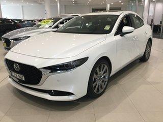 2019 Mazda 3 BP2SLA G25 SKYACTIV-Drive Astina White 6 Speed Sports Automatic Sedan.