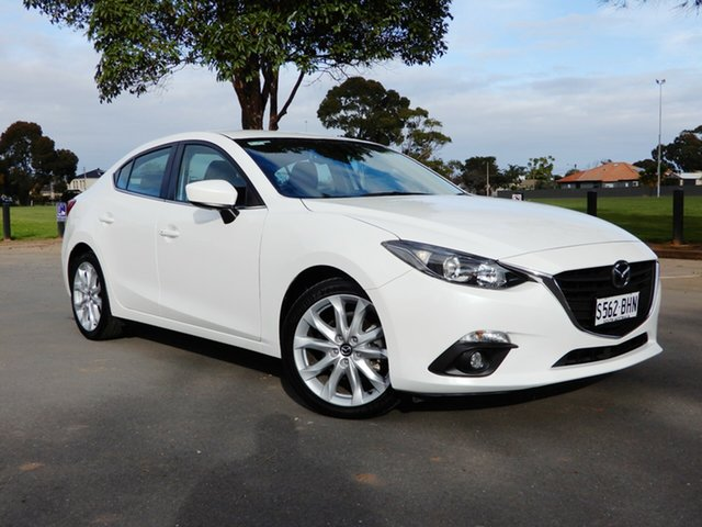 Used Mazda 3 BM5238 SP25 SKYACTIV-Drive, 2015 Mazda 3 BM5238 SP25 SKYACTIV-Drive White 6 Speed Sports Automatic Sedan
