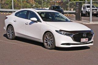 2019 Mazda 3 BP2SLA G25 SKYACTIV-Drive Astina Snowflake White Pearl 6 Speed Sports Automatic Sedan.