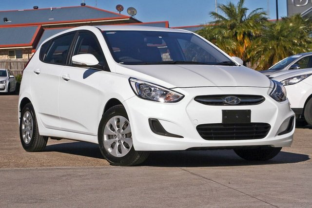 Used Hyundai Accent RB3 MY16 Active, 2015 Hyundai Accent RB3 MY16 Active White 6 Speed Constant Variable Hatchback