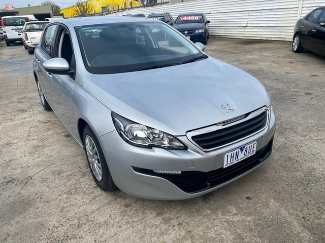 Used Peugeot 308 T9 Access, 2016 Peugeot 308 T9 Access Silver 6 Speed Sports Automatic Hatchback