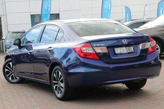 2015 Honda Civic 9th Gen Ser II MY15 VTi-S Blue 5 Speed Sports Automatic Sedan.