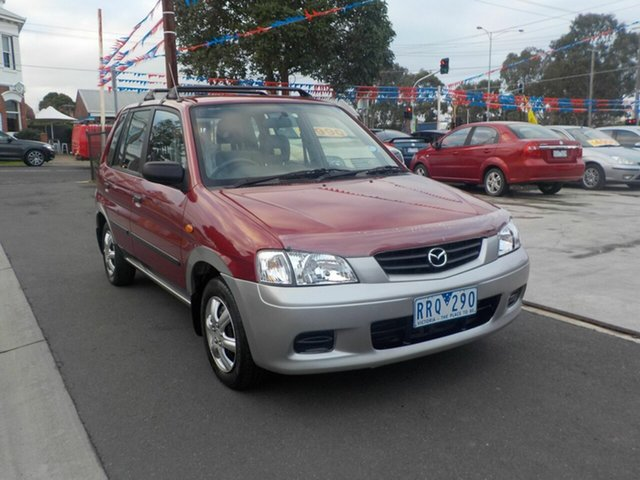 Used Mazda 121 Metro Shades Newtown, 2002 Mazda 121 Metro Shades Red 4 Speed Automatic Hatchback