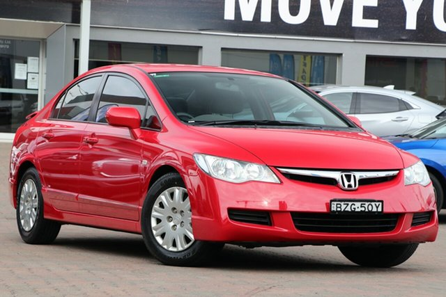Used Honda Civic 8th Gen MY08 VTi, 2008 Honda Civic 8th Gen MY08 VTi Red 5 Speed Automatic Sedan