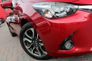 2015 Mazda 2 DJ2HA6 Genki SKYACTIV-MT Red 6 Speed Manual Hatchback.