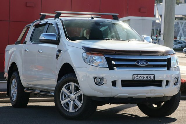 Used Ford Ranger PX XLT Double Cab 4x2 Hi-Rider, 2015 Ford Ranger PX XLT Double Cab 4x2 Hi-Rider White 6 Speed Sports Automatic Utility