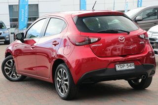2015 Mazda 2 DJ2HA6 Genki SKYACTIV-MT Red 6 Speed Manual Hatchback