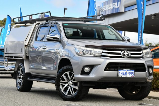 Used Toyota Hilux GUN126R SR5 Double Cab Melville, 2017 Toyota Hilux GUN126R SR5 Double Cab Silver 6 Speed Sports Automatic Utility