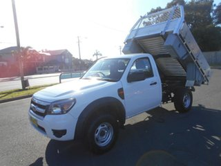 2009 Ford Ranger PK XL Hi-Rider (4x2) White 5 Speed Manual Cab Chassis.