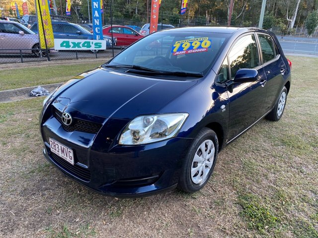 Used Toyota Corolla ZRE152R Ascent, 2007 Toyota Corolla ZRE152R Ascent Blue 4 Speed Automatic Hatchback