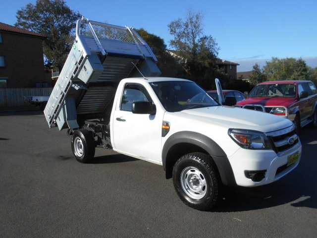 Used Ford Ranger PK XL Hi-Rider (4x2), 2009 Ford Ranger PK XL Hi-Rider (4x2) White 5 Speed Manual Cab Chassis