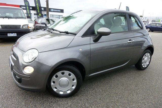 Used Fiat 500 MY13 POP Cheltenham, 2013 Fiat 500 MY13 POP Charcoal Grey 5 Speed Automatic Hatchback